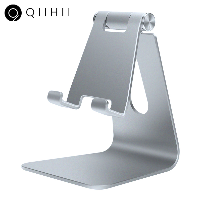 QIIHII Desk Mobile Phone Holder Metal Cell Phone Holder For IPhone X XS MAX 8 7 6 Phone Stand Desk For Samsung Xiaomi Huawei
