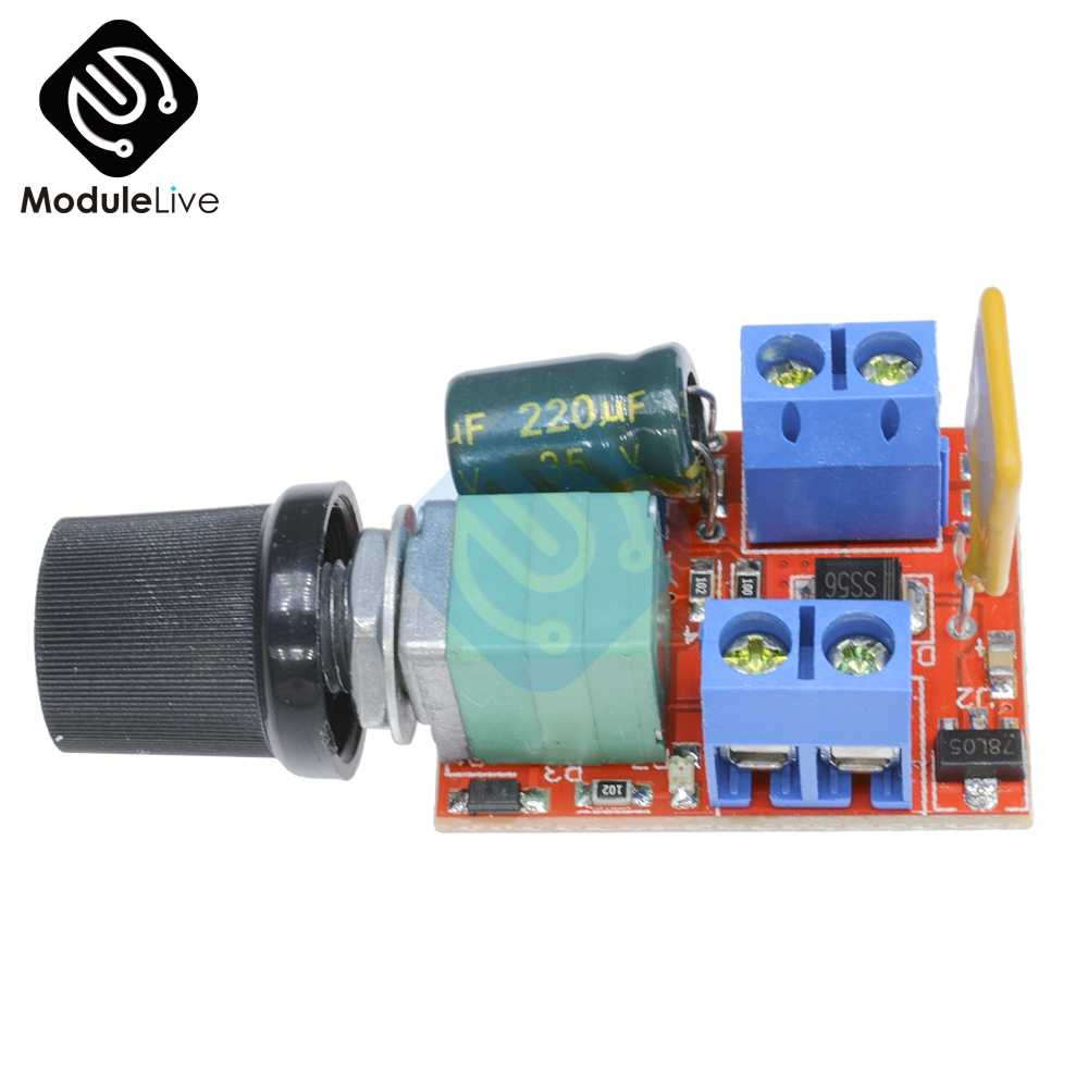 Mini DC Motor PWM Speed Controller 5A 4.5V-35V Speed Control Switch LED Dimmer