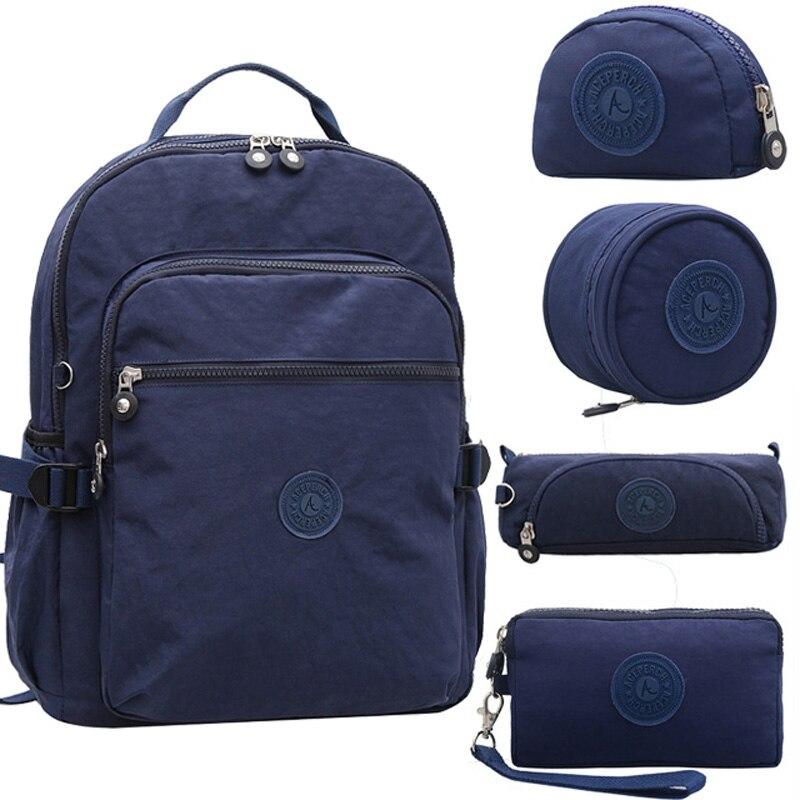 ACEPERCH Women Original Backpacks Girls Multifunction School Waterproof Bag Mochila Escolar Mujer Travel Large Capacity Rucksack