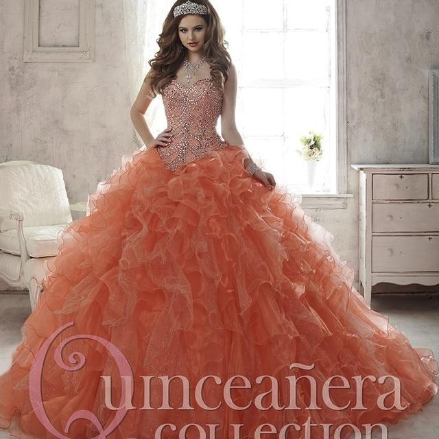 29e26e4605 Sweetheart con Cordones del vestido de Bola Del Organza Con Cuentas de La  Colmena de Cristal