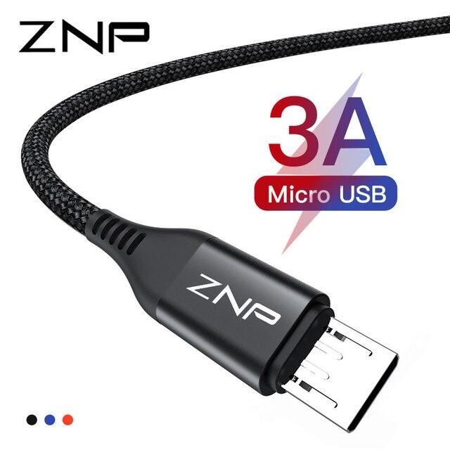 ZNP מיקרו USB כבל 3A מהיר טעינת Microusb מטען כבל עבור סמסונג Xiaomi Redmi הערה 5 פרו כבוד Tablet אנדרואיד טלפון מיקרו