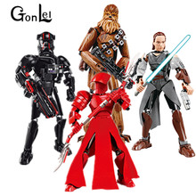 GonLeI Star Darth Vader Wars Blocks White Storm Trooper Toys Building Blocks Christmas Rogue One Kids Toy(China)
