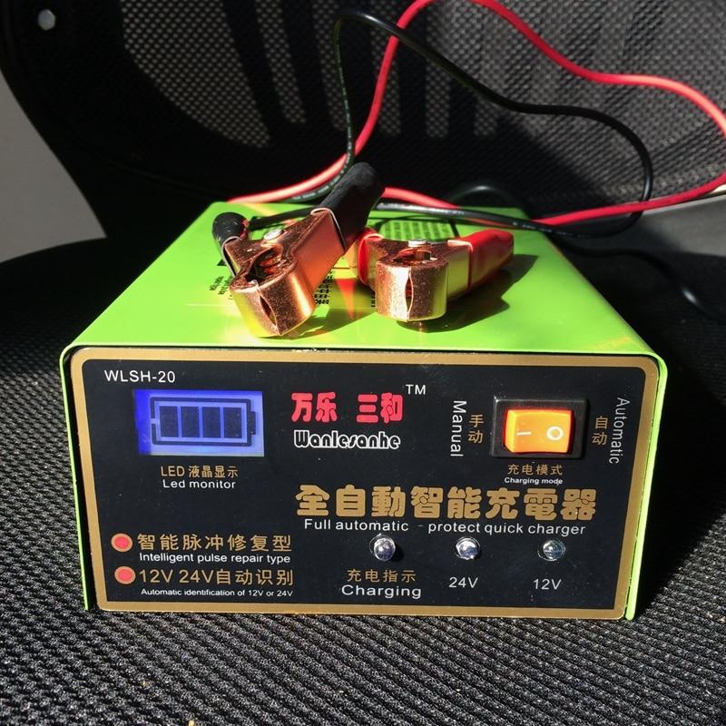 Completamente Automatica 12 V/24 V 100AH Auto Scooter e-bike wet & Dry di Piombo Caricabatteria Intelligente Riparazione impulso Tipo di Display A LED del Caricatore