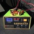 Totalmente Automático 12 V/24 V 100AH BATERIA de Carro Scooter e moto-Secos & molhados Inteligente Carregador de Bateria de Chumbo Tipo de Reparação de pulso Display LED Carregador