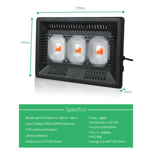 Image 3 - BUYBAY Full Spectrum LED Grow Light Waterproof IP67 100W 200W 300W COB Growth Flood Light for Plant Indoor Hydroponic Greenhouse