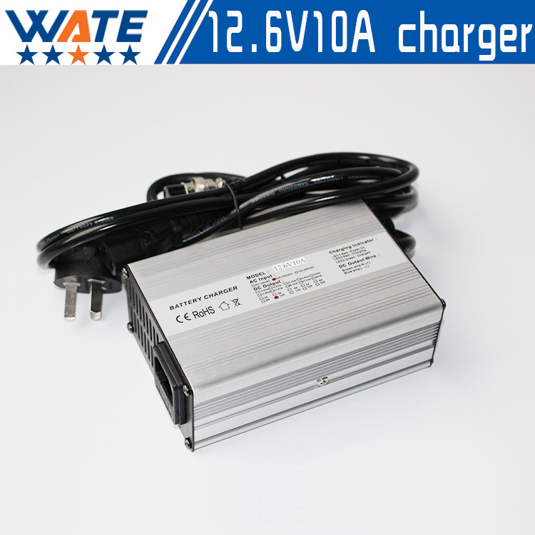 Free shipping 12.6V10A lithium-ion battery charger 12.6V10A aluminum shell lithium ion battery charger for 12V10AH12AH15AH20AH 3s li ion lithium battery battery protection board 10 8v 12 6v 18650 charger free shipping