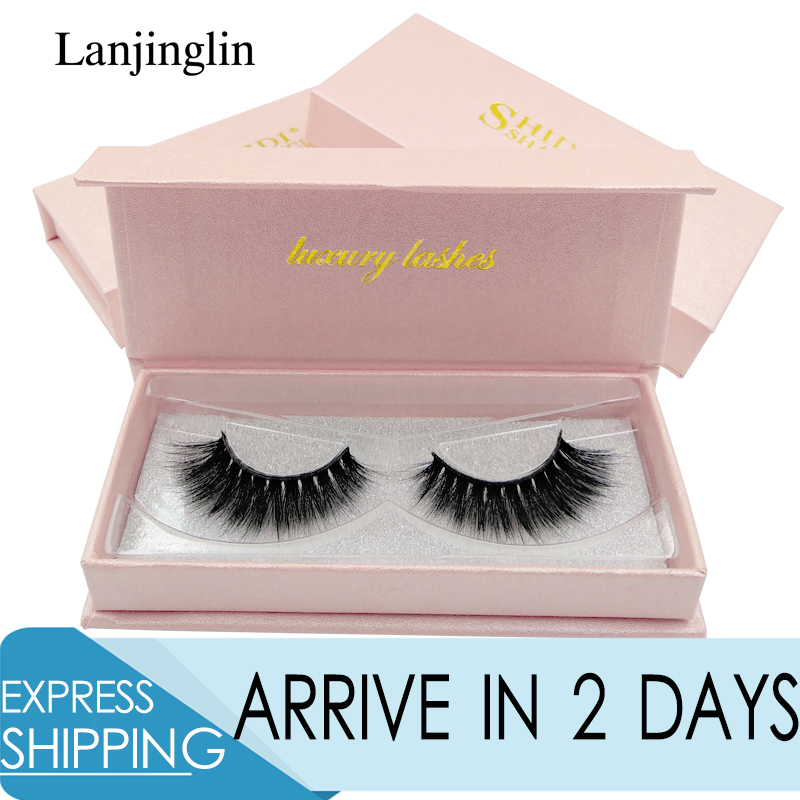 LANJINGLIN 1 Box 3d Mink Eyelashes Soft Fluffy 100% Cruelty Free Lashes 3d Hand Made False Eyelashes Eye Makeup Extension