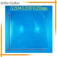 520x520 мм квадратный PMMA большой Френеля конденсации объектива Пластик солнечной энергии фокусных расстояний Длина 620 мм для самолета Лупа, ко