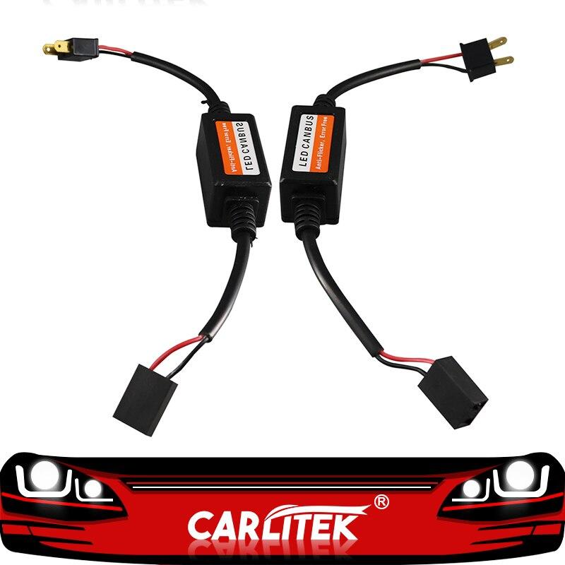 2 pièces H4 H7 phare LED Kit de câblage can bus ordinateur d'avertissement sans erreur Anti scintillement résistance annuleur décodeur H11 9005 9006