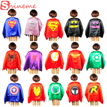 Halloween kids superhero capes baby superman spiderman costume boys girl children birthday wear gift Party supplies hero cosplay