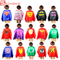 Halloween kids superhero capes baby superman spiderman costume boys girl children birthday wear gift Party supplies hero cosplay