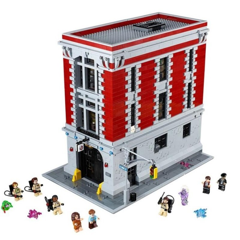 font b LEPIN b font 16001 Ghostbusters Firehouse Headquarters Model Building Blocks Kit Set Minifigure