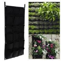 18 Pockets Vertical Garden Flower Pots Hanging Plant Pots Green Wall Pot And Planter 50cm 100cm