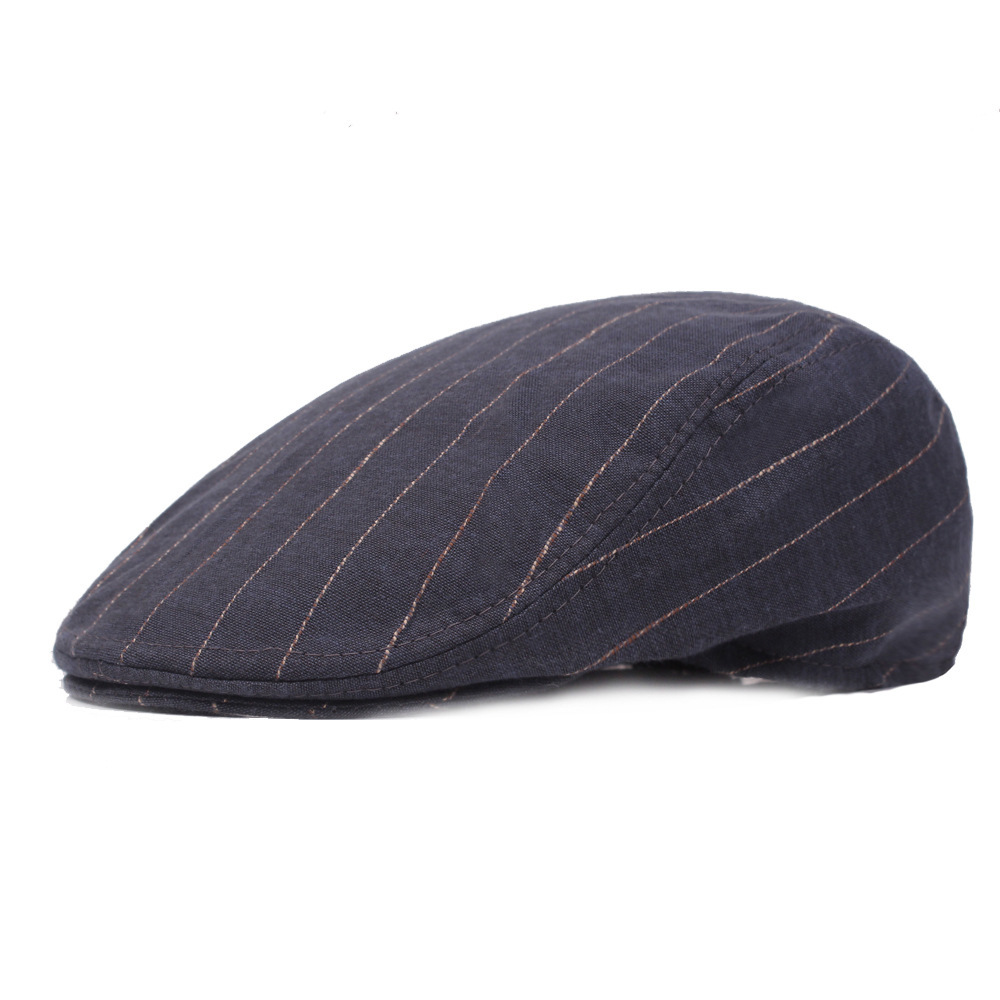 Detail Feedback Questions about Literature Youth Beret Man Peaked Cap  School Wind Forward Stripe Leisure Time Hats Women visor Hat Newsboy Cap  Wholesale on ... e49e998f81