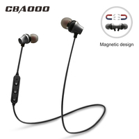 CBAOOO S10 Magnetic Switch Sports Wireless Bluetooth Earphones Bass Swearproof Running Headset Gamer Earbuds With MIC