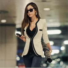Women's Blazers And Jackets New Long-sleeved Small Women Suit Version Slim Ladies Blazer White and Black Casual Blazers