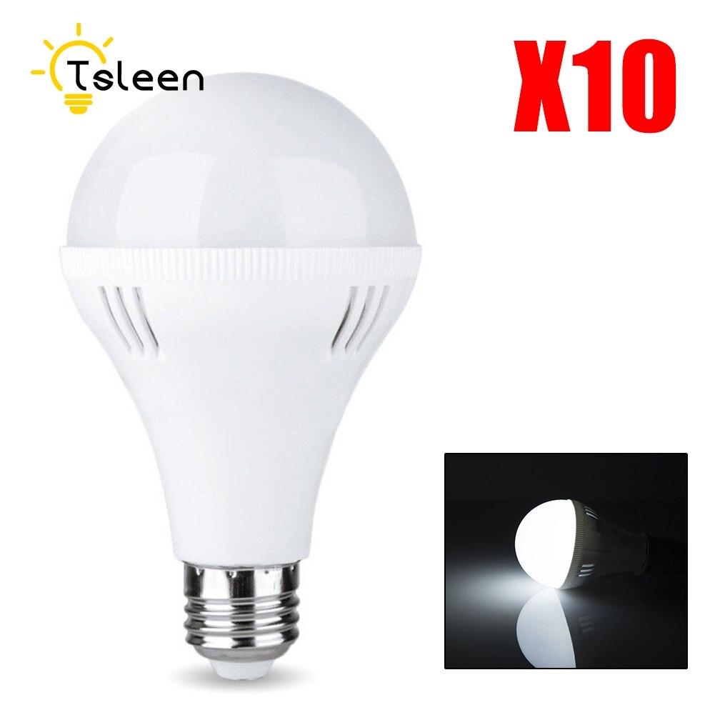 10PCS LED Lumens Light Bulb E27 220V 3W 5W 7W 9W 12W LED Lamp White(6500K) Warm White(3200K) Replace Halogen 30 Watt Equivalent