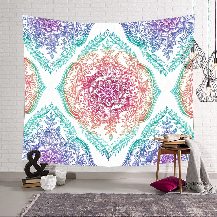 Image 4 - CAMMITEVER Astronaut Space Moon Earth Cloud Hanging Wall Tapestries Creative Home Decoration-in Tapestry from Home & Garden