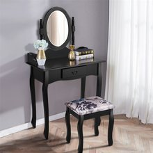 Vanity Makeup Dressing Table Stool Set White Black High Quality Makeup Table Chair Bedroom Furniture(China)