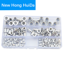 цена на Aluminun Rivet Nut Flat Head Metric Threaded Rivnut Insert Standard Rivetnut Blind Nutsert Assortment Kit Set M3 M4 M5 M6 M8 M10