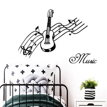 Beauty music Home Decor Wall Stickers Nursery Room Vinyl Decal stickers Living muraux vinilo pared