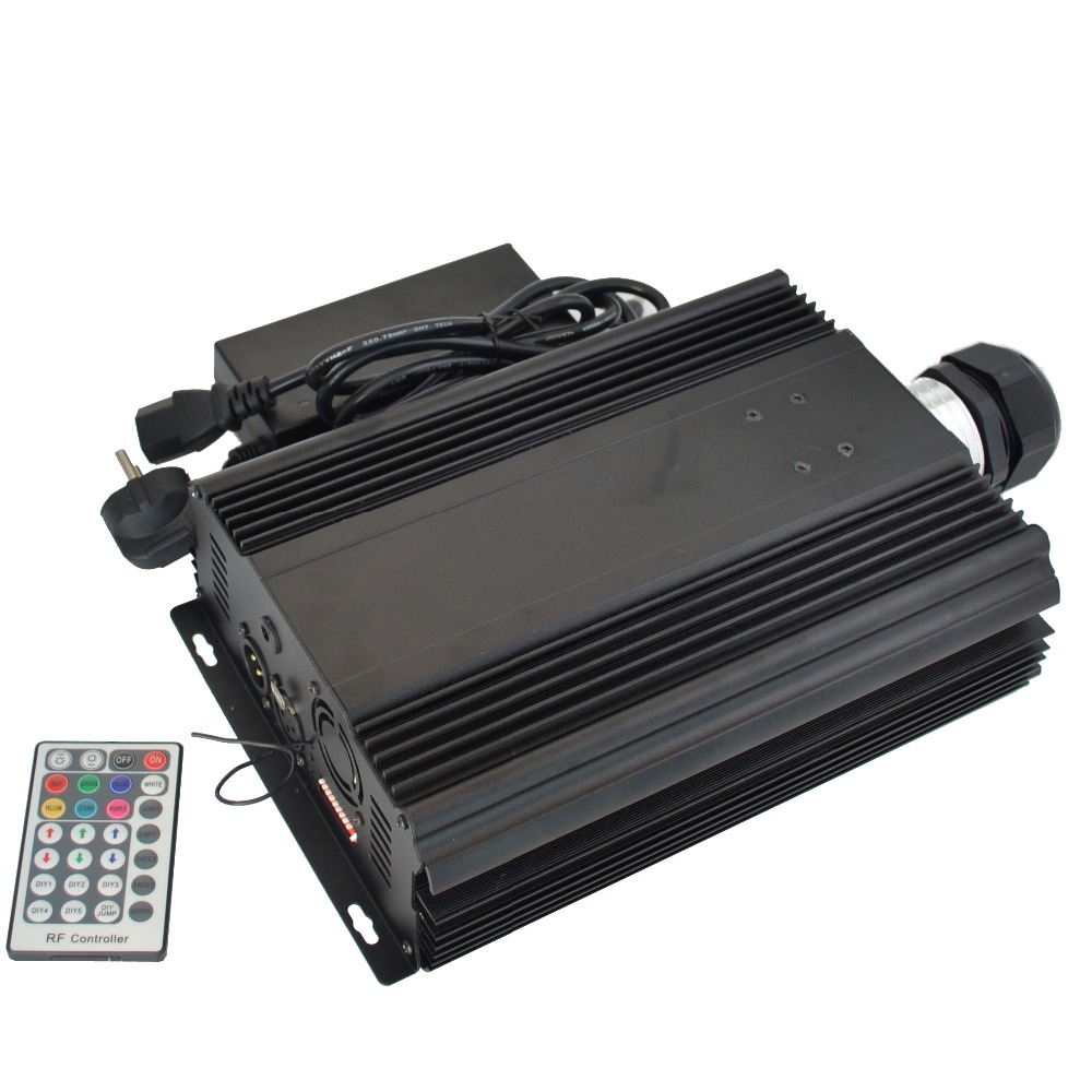 90W LED dmx optical fiber engine,AC85-260V input;dmx512 compatible RF RGB high power light for all kinds fiber optics