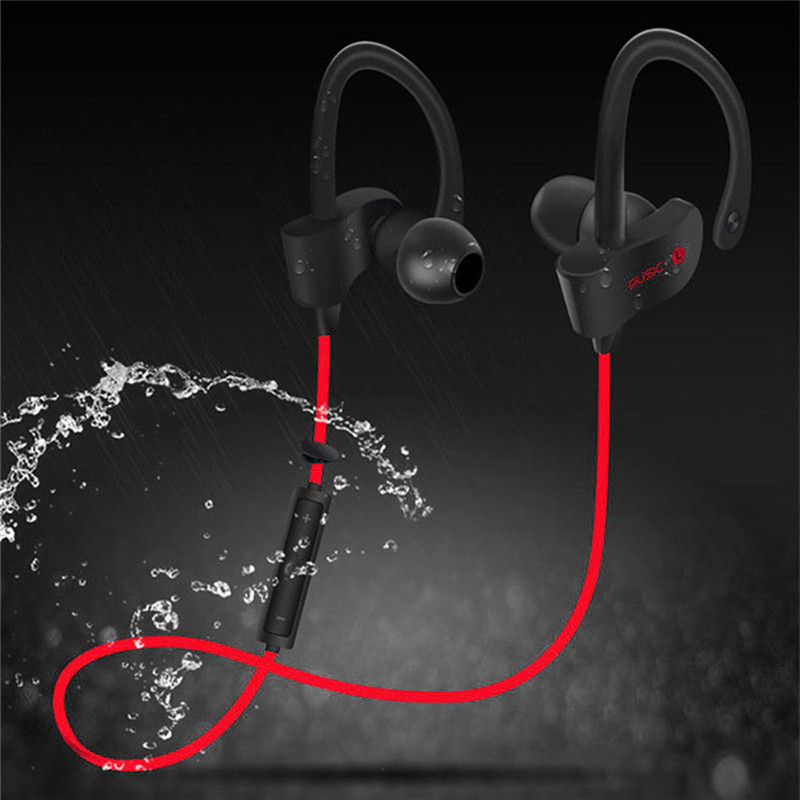Waterproof BluetoothV4.2 Wireless Headset Neckband Handsfree Stereo Sport Earphone With Microphone For IPhone 7 7PLUS 6S Samsung remax t9 mini wireless bluetooth 4 1 earphone handsfree headset for iphone 7 samsung mobile phone driving car answer calls