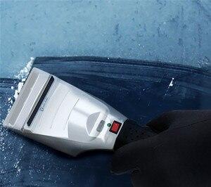 Image 4 - 가열 된 자동차 겨울 앞 유리 전기 눈 및 비 스크래치 얼음 긁는 도구 12 볼트 가열 얼음 긁는 도구