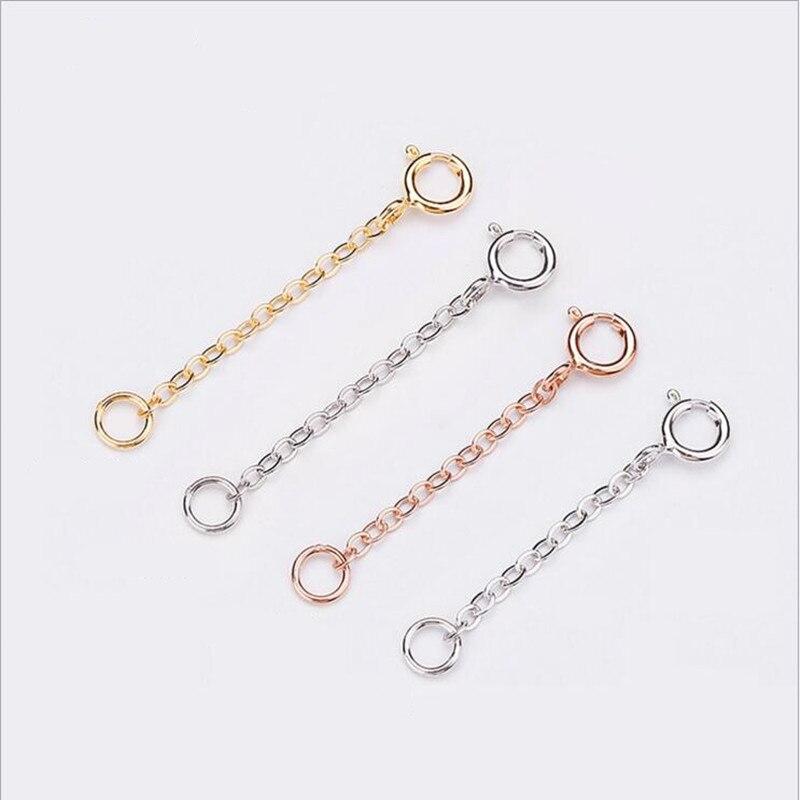 2 Stücke S925 Sterling Silber Diy Taste Zubehör Halskette Armband Schnalle Frühjahr Schnalle Hummer Schnalle Schmuckzubehör & Komponenten