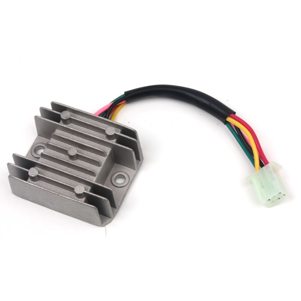 5 Wires 12V Voltage Regulator Rectifier Motorcycle Dirt Bike ATV GY6 50 150cc Scooter Moped JCL 5 wires 12v voltage regulator rectifier motorcycle dirt bike atv 5 wire rectifier diagram at readyjetset.co