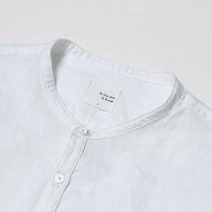 Image 2 - سيموود 2020 وصل حديثًا قمصان صيفية بأكمام قصيرة للرجال 100% لون أبيض كتان ملابس ضيقة مقاسات كبيرة CS1534