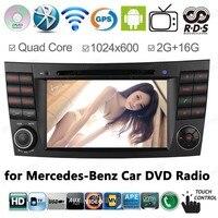 2 г Оперативная память 1024*600 Android 4.4 4 ядра автомобиля GPS навигации для Mercedes W211 E класса E280 W463 W219 DVD Радио