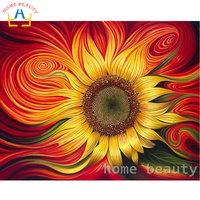 HOME BEAUTY DIY Oil Painting By Numbers Abstract Painting Calligraphy Coloring By Number Flowers Acrylic Wall