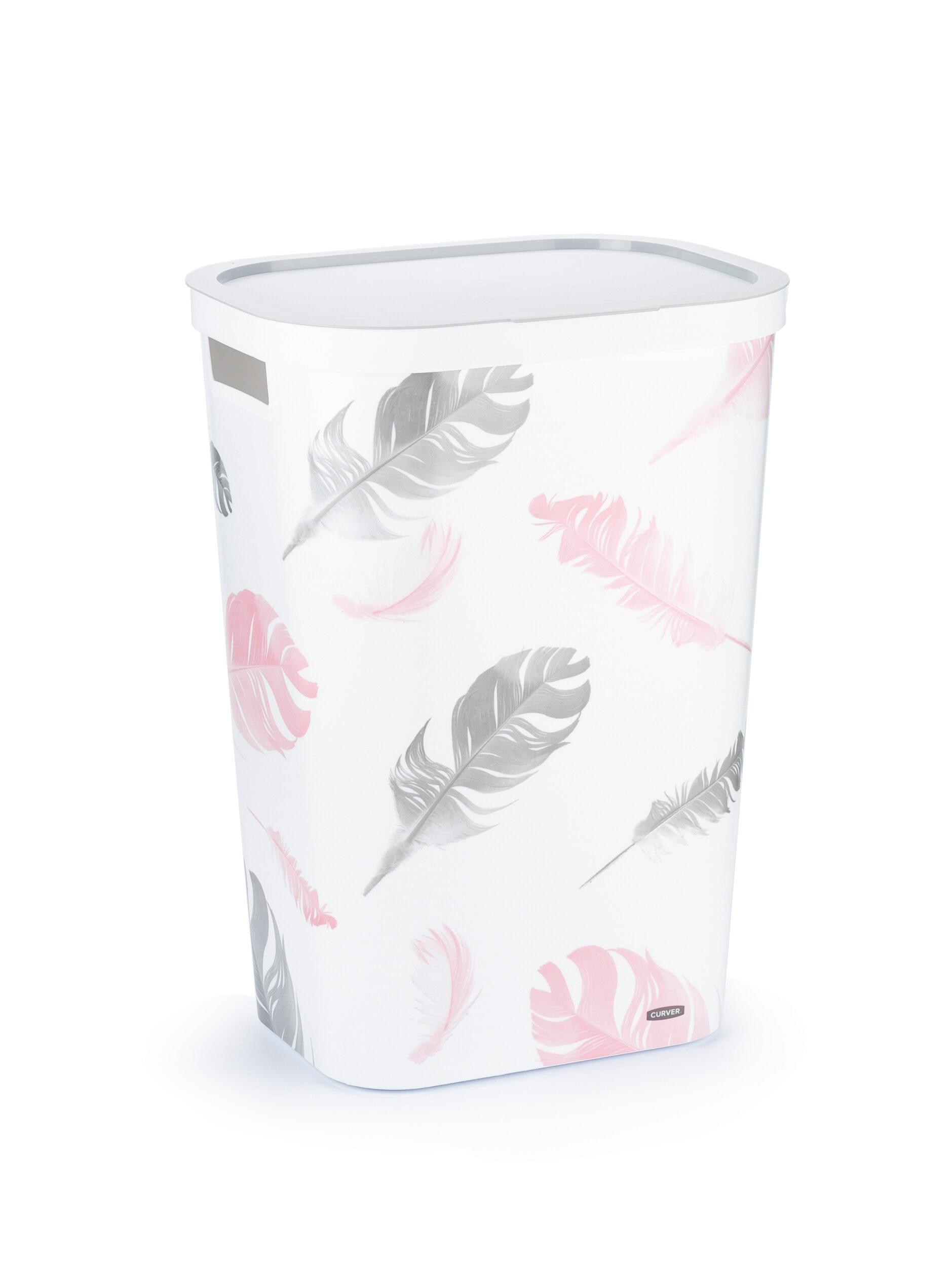 Laundry basket CURVER INFINITY Feathers 60 L корзина для белья curver infinity feathers 60 л