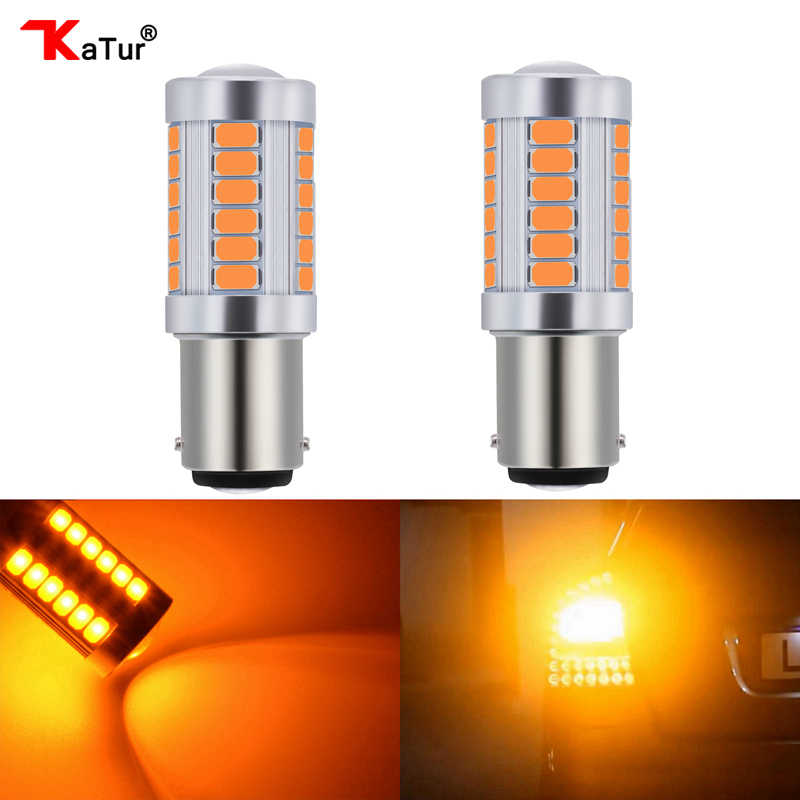 Katur 2pcs 1157 BAY15D P21/5W LED Bulbs For Cars Brake/Stop Lights Amber/Orange Lighting White Red Blue 5630 33SMD Led Lamps