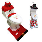 CHRISTNAS 3PC BATHROOM SET RUG CONTOUR MAT TOILET LID COVER SOLID BATHMATS