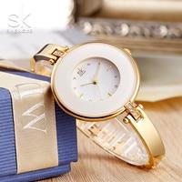 Shengke Brand Luxury Women Bracelet Watch Women Gold Quartz Dress Wrist Watches Ladies Fashion Watches Clock