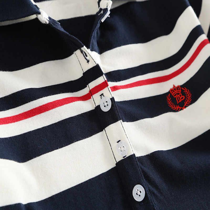 New Fashion 2019 Embroidery Stripe Polo Print Party Dress T Shirt Summer Sexy Evening Casual Women Cotton Mini Elegant Vestidos