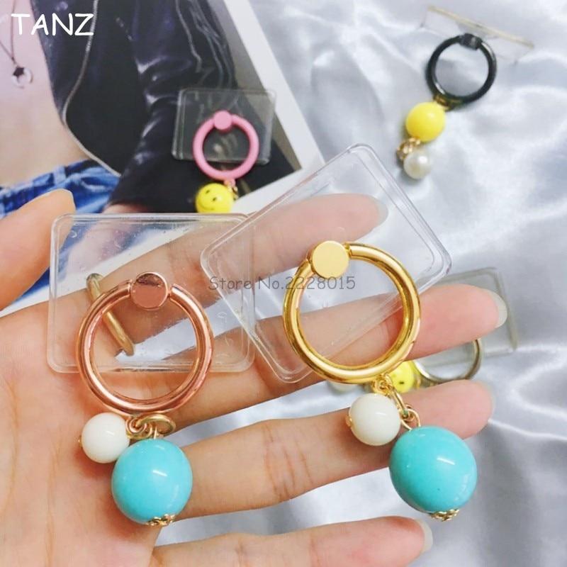 Transparent Clear Smile Pendant 360 Degree Finger Ring Holder Mobile Phone Universal Sta ...