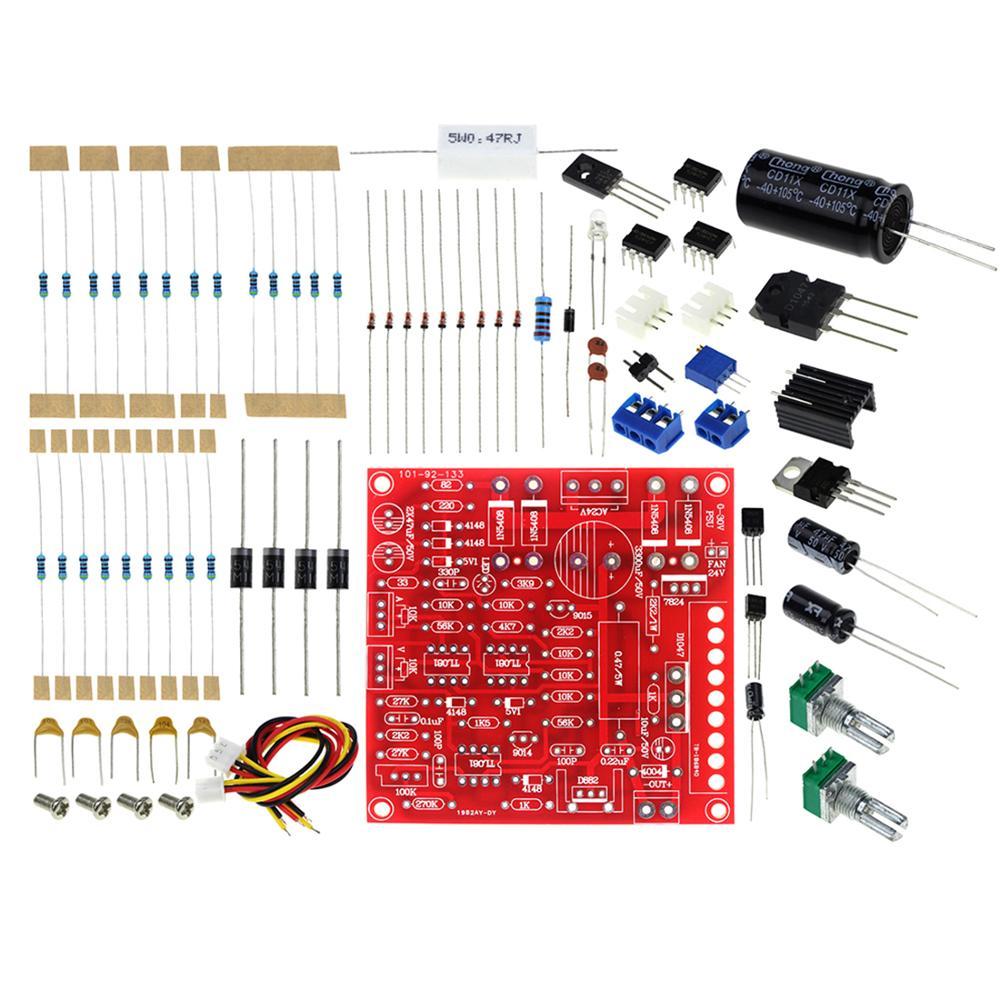 0-30 в 2mA-3A DC Регулируемый источник питания DIY Kit непрерывный регулируемый ток ограничения защиты для обучения, обучения, лаборатории