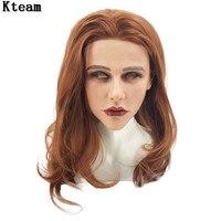 Реалистичные костюм для косплея на вечеринке Halloween довольно женщина силиконовая маска для женщин переодеванию лицо модная Карнавальная ма