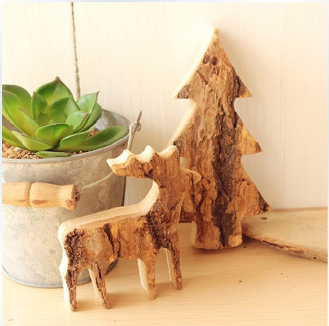 diy wood reindeer christmas tree ornamentschristmas decorations birthday gifts wedding decoration - Diy Wood Christmas Decorations