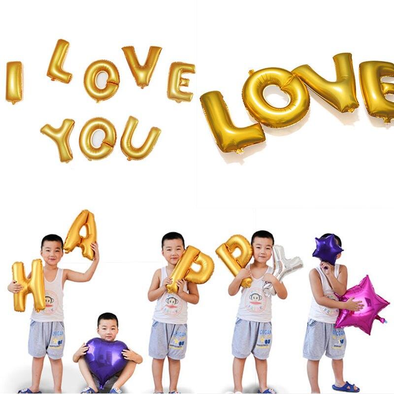 balloons letters palloncini lettere 40cm