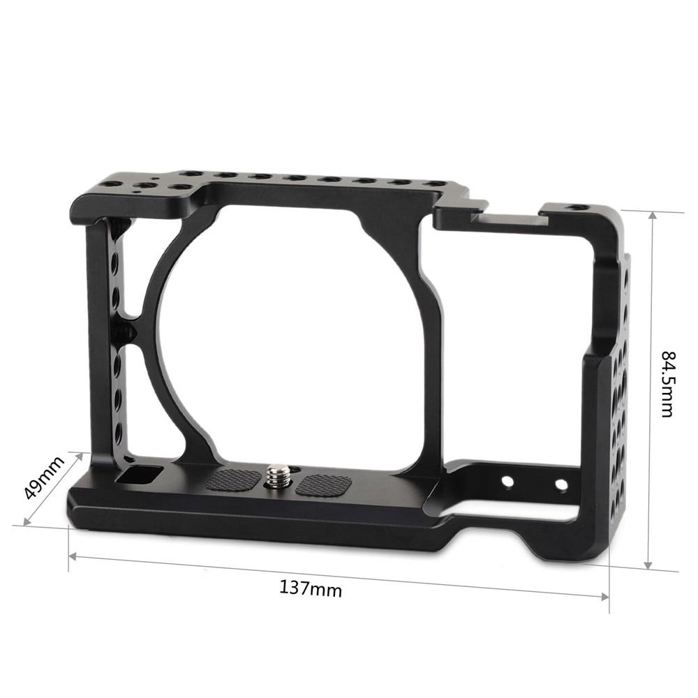 Cage de caméra SmallRig pour Sony A6000/A6300/A6500 ILCE-6000/ILCE-6300/A6500/Nex-7 Cage en alliage d'aluminium pour monter le moniteur de trépied-1661 - 3