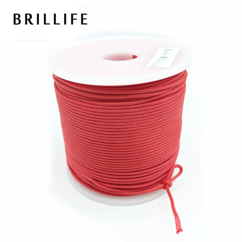 BRILLIFE 1.2mm 50m 16 Strands Braided Wire 300LB 120kg Fishing Rope Spearfishing Gun Rope Kite Line