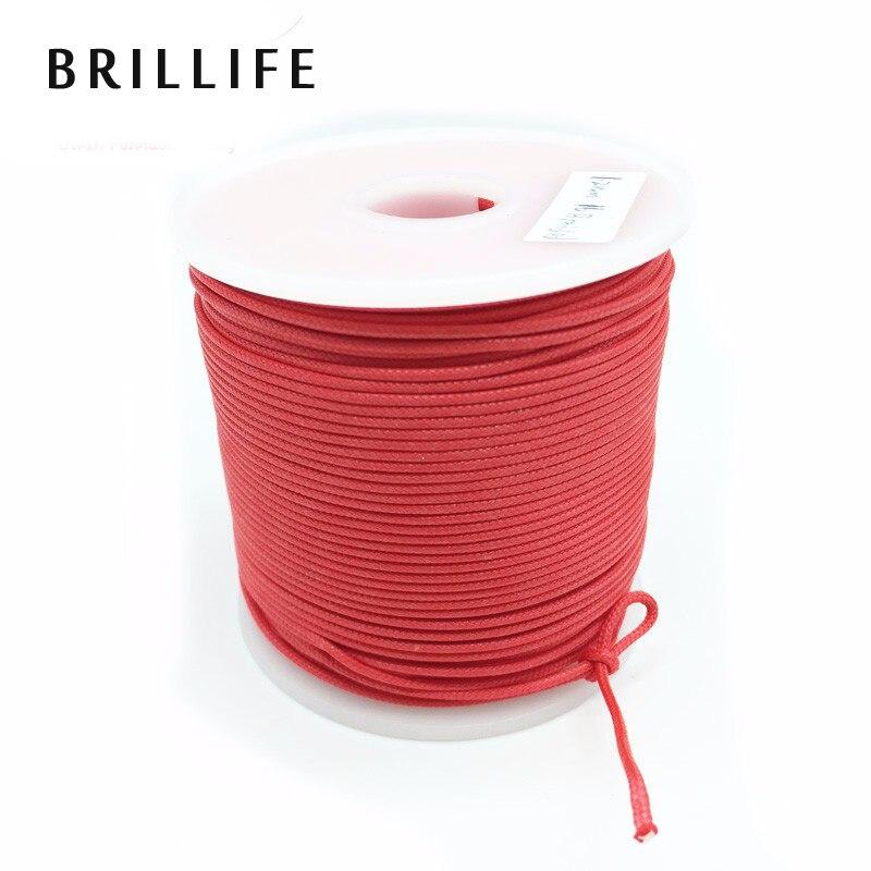 BRILLIFE 1.2mm 50m 16 Strands Braided Wire 300LB 120kg Fishing Rope Spearfishing Gun Rope Kite Line