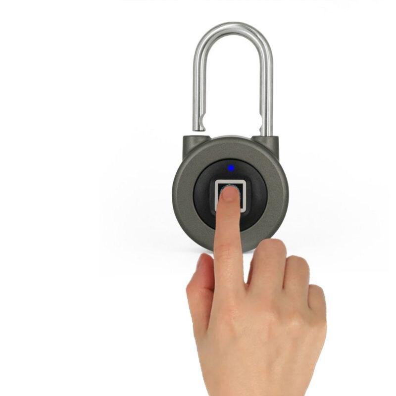 Empreinte digitale intelligente serrure électrique étanche APP Bluetooth cadenas sans clé serrure intelligente serrure de porte sécurisée Anti-vol pour Andro