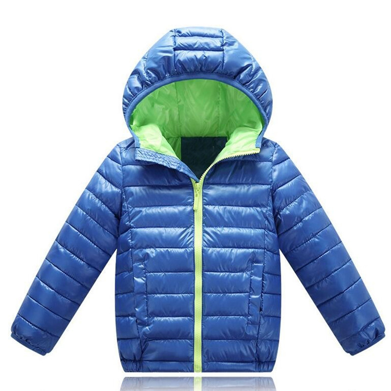 где купить Baby Boys Jacket 2018 Winter Autumn Jacket For Boys Hooded Down Jacket Kids Warm Outerwear Coat For Baby Boy Clothes 2 to 10yrs дешево