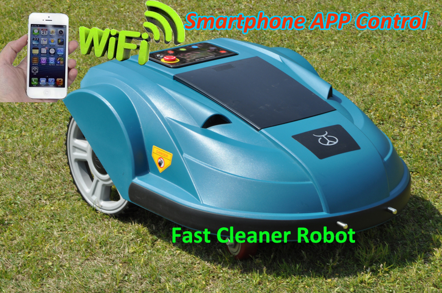 Newest Third Generation Smartphone WIFI App Control Robot Garden Tool ,Lawn Mower Robot updated with Water-proofed Charger