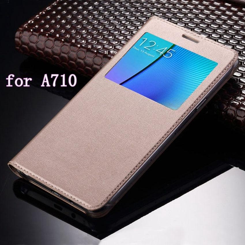 Fereastră subțire vedere fereastră acoperire cu telefoane mobile geanta de transport Fundas Coque de afaceri pentru Samsung Galaxy A7 2016 A710 A710F A710H A710M